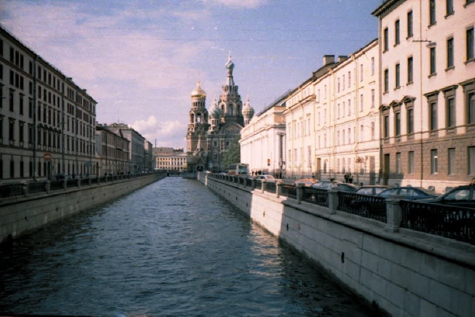 Winterkanal in St Petersburg